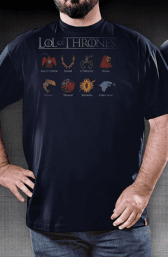 CAMISETA GEEK - LOL OF THRONES