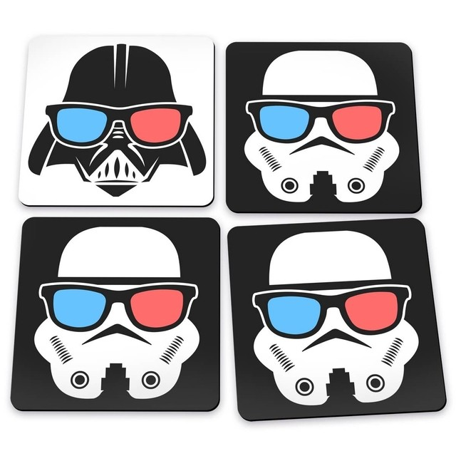 porta copos geek side darth vader stormtrooper star wars