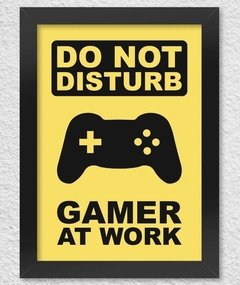 poster com moldura gamer at work