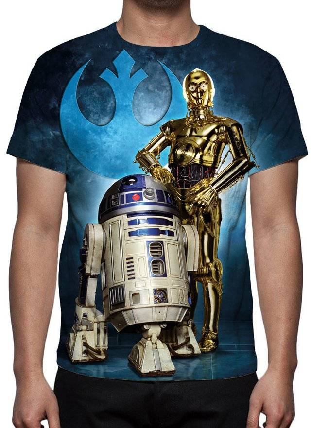 Camiseta R2-D2 e C-3PO - Star Wars