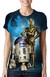 BABY LOOK - STAR WARS - R2-D2 E C-3PO