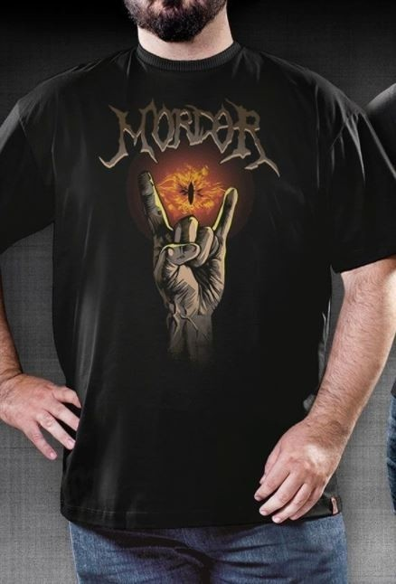 CAMISETA GEEK - SAURON ROCKS