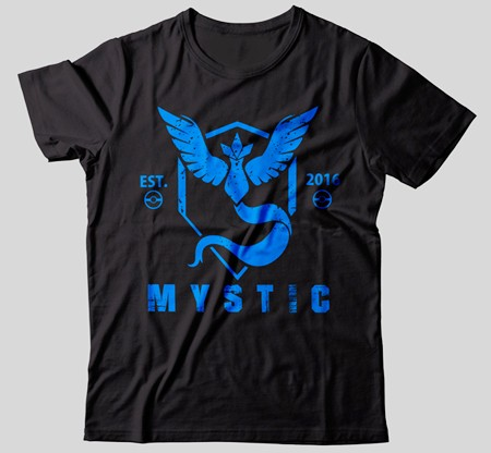 CAMISETA - POKÉMON GO - TEAM MYSTIC