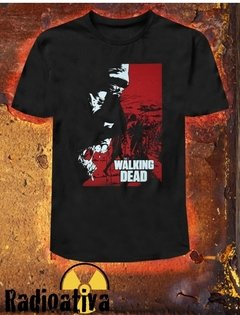 CAMISETA GEEK - THE WALKING DEAD - VERMELHO