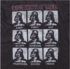 CAMISETA - STAR WARS - EXPRESSIONS OF VADER