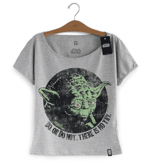 CAMISETA FEMININA - STAR WARS - YODA DO OR DO NOT