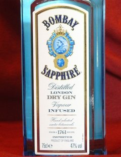 Bombay Sapphire Dry Gin - 750 ml - comprar online