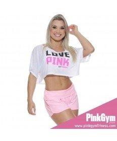 PINKGYM Shorts em suplex light rosa