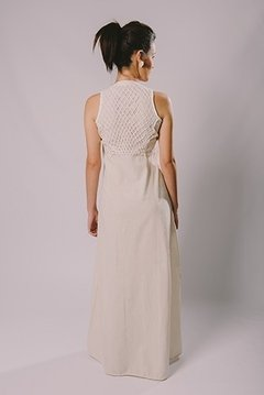 NATURAL FABRIC LONG DRESS - buy online