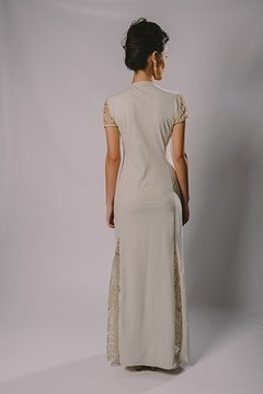 LONG DRESS WITH FILET LACE on internet