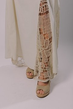 LONG DRESS WITH FILET LACE - buy online