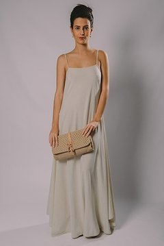 LONG DRESS WITH STRAPS FLAT
