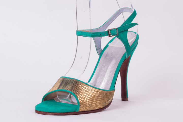 Arte DeColibries Tango Shoes, model Green Eli 3.75.