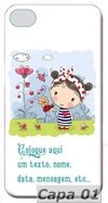 Capa Celular Cute Cartoon Boy and Girl