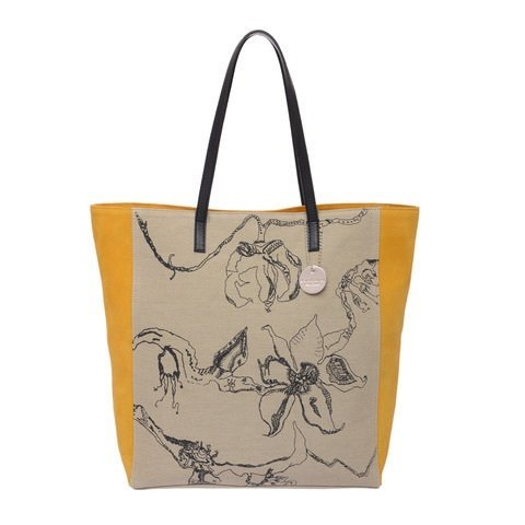 Tote de lona by Lucila  - yellow