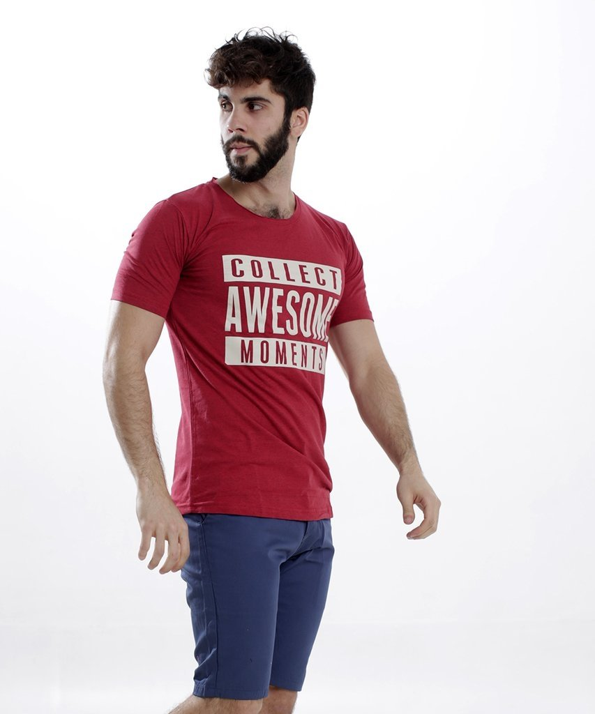 Remera AWESON BORDO