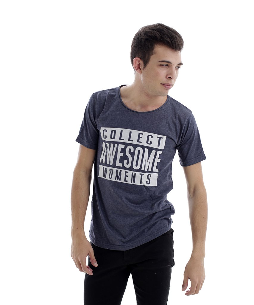 REMERA AWESOME GRIS