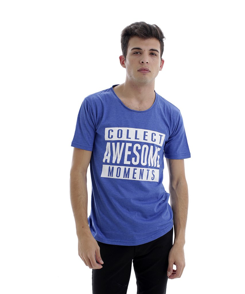 REMERA AWESOME AZUL
