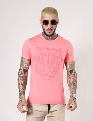 Remeras Retry  Coral