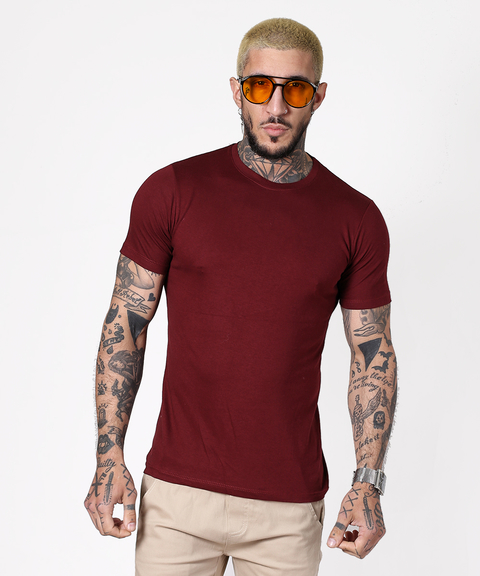 Remera TOP Bordo
