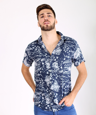 Camisa Shell blue