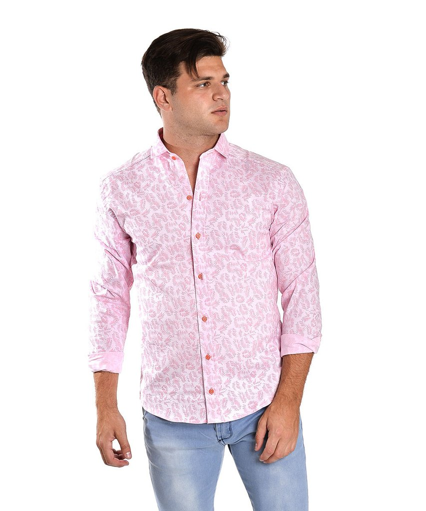 Camisa FLOR CHICA Blanco - Rosa