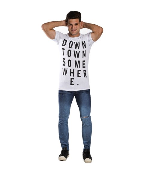 Remera DOWN Blanco