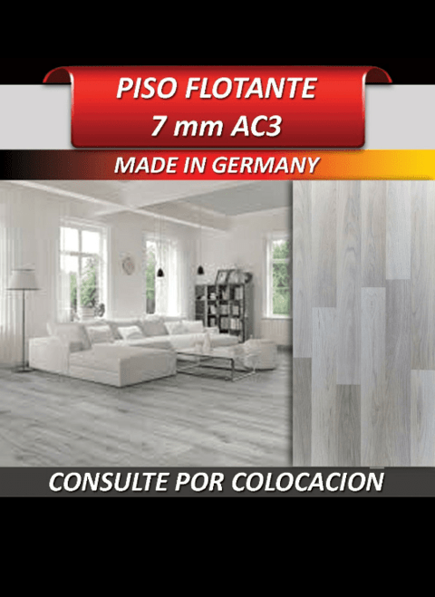 Piso Flotantes ac3 gris nieve uso comercial made in germany