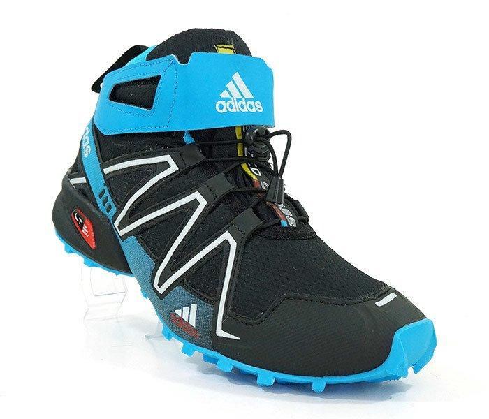 Tênis Adidas Speedcross 3 Cano Alto Preto e Azul d749c6aeca9b7