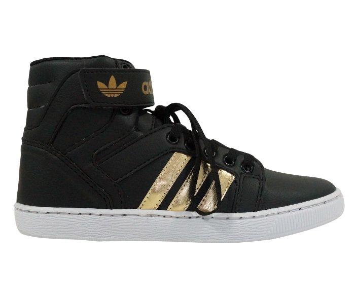 9bb3a5f42ef1c ... Tênis Adidas Varial New Cano Alto Preto e Dourado MOD 15017 - comprar  online ...