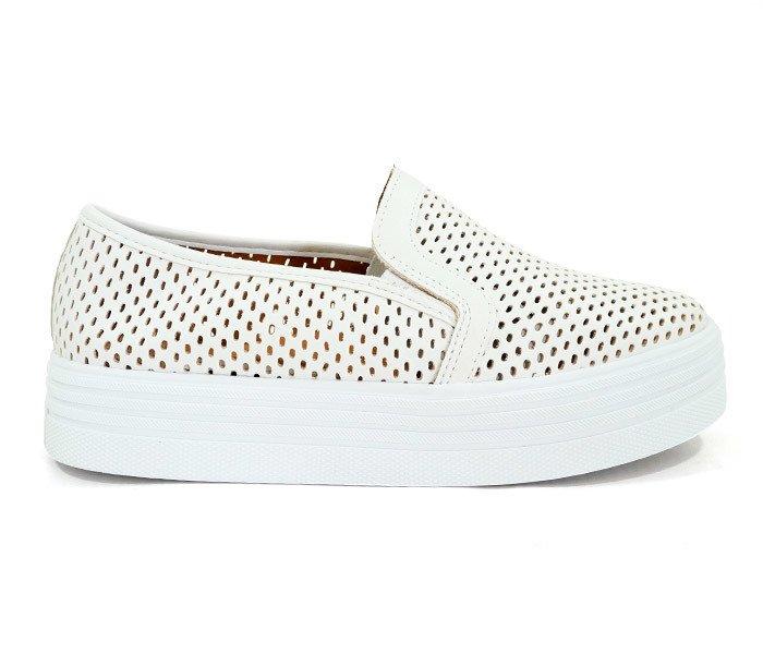 79a3e86b31 Tênis Feminino Iate Plataforma Doma Shoes Branco - comprar online