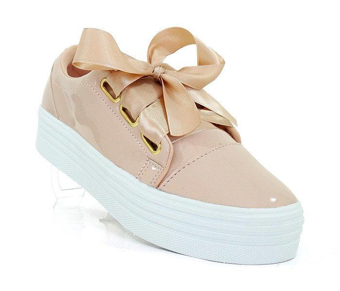 5bbf11ed4a Tênis Feminino Plataforma Doma Shoes Rosê