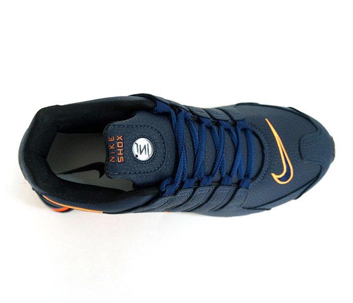 51902f44af ... order tênis nike shox nz azul marinho e laranja bobarato sua loja de  novidades 83a1f 1b9e7