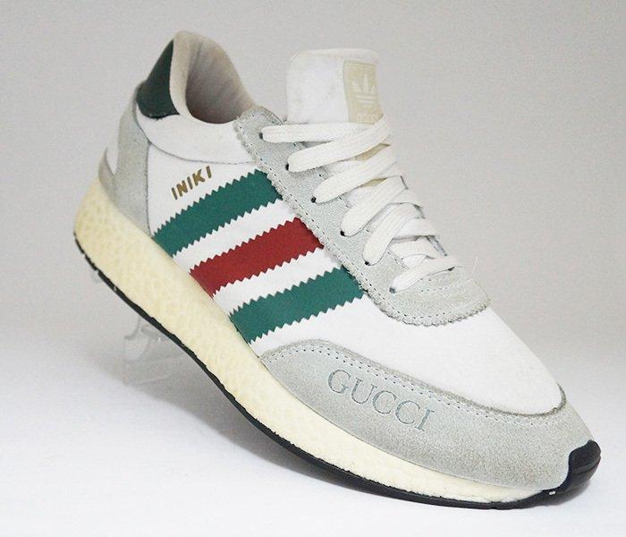 6c6223a5643 Tênis Adidas Iniki Runner Gucci Branco e Cinza