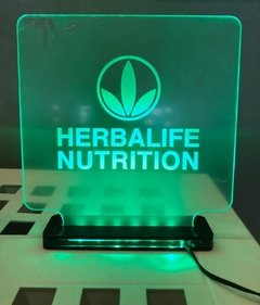 Placa de Led Verde Herbalife Nutrition