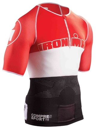 Compressport TR3 AEROTOP IRONMAN STRIPES RED