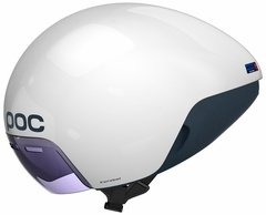 POC Cerebel Raceday Aero Helmet White