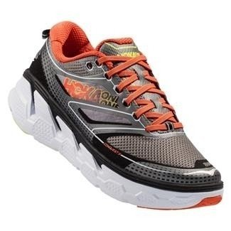 HOKA ONE ONE Conquest 3 Men's Shoes Grey/Orange