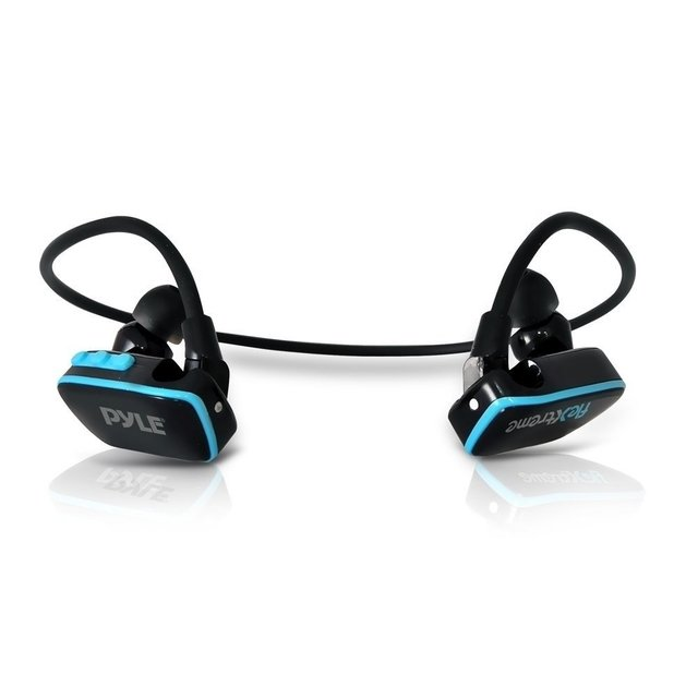 Pyle PSWP6BK Flextreme Waterproof MP3 Player Headphones