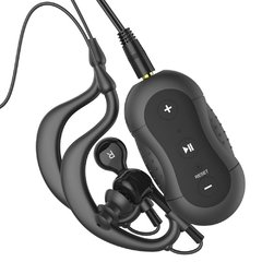 Aerb MD190 4GB Waterproof MP3 Player W Waterproof Earphones, Black
