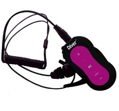 Diver (TM) Waterproof MP3 Player. 4 GB. Kit Includes Waterproof Earphones. NEW. (Pink)