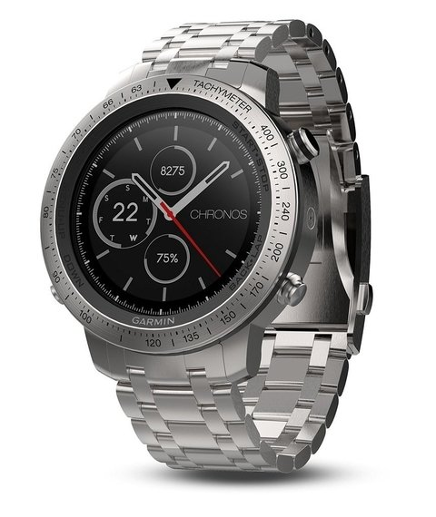 Garmin Fenix Chronos, Steel with Brushed Stainless Steel Watch Band