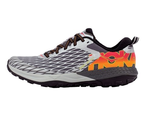 HOKA ONE ONE Speed Instinct Men's Shoes Silver/Cayenne