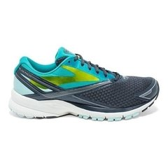 BROOKS WOMEN'S LAUNCH 4 RUNNING SHOES anthartic/teal