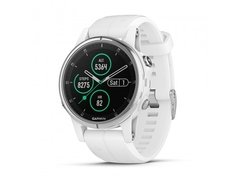 Garmin fenix 5S Plus Sapphire GPS Fitness Watch white with white band - comprar online