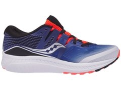 Saucony Ride ISO Men's Shoes White/Blue/ViziRed - comprar online
