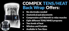 COMPEX TENS/HEAT BACK WRAP na internet