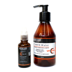 C-PACK! :: VITAMIN WATER::  Cleanser Nutritivo 16% C,E, Hyaluronic, Resveratrol  + 1 SERUM VIT C+plus, 30ml - comprar online