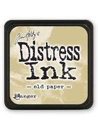Mini Carimbeira Distress Ink - Old Paper