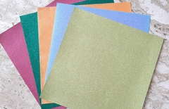 Kit Papel Glitter - 5 cores